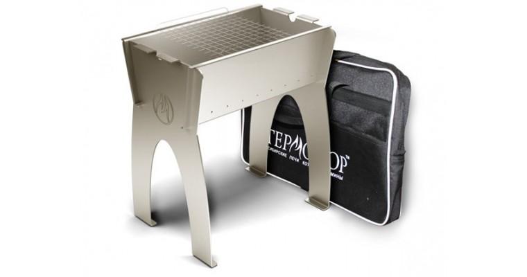 Мангал Термофор Миртрудмай-2, высокий, разборный, решетка-гриль, с сумкой