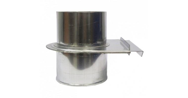Шибер задвижной D80 УМК 1мм нержавеющий