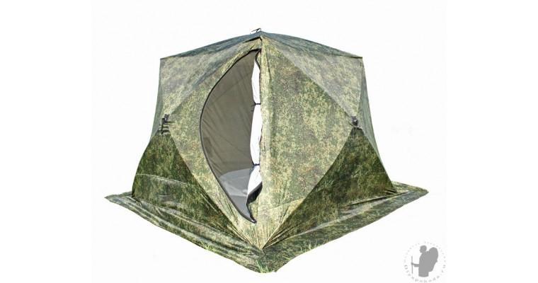 Палатка СТЭК Куб 4 трехслойная, лето-зима
