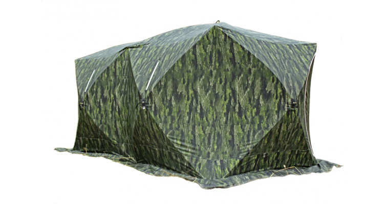Палатка СТЭК Куб 3 Дубль трехслойная, камуфляж