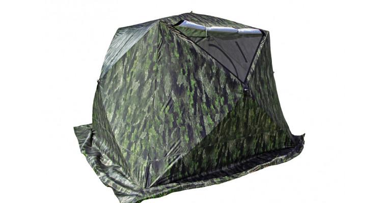 Палатка СТЭК Куб 3 Long трехслойная, камуфляж